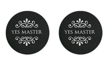Yes Master Adult BDSM ABDL Lifestyle Cabochon Stud Earrings LSE368