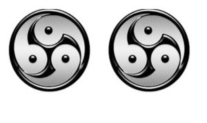 Ying yang BDSM pride Lifestyle Cabochon Stud Earrings LSE406