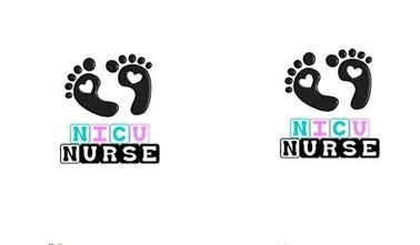 NICU Nurse Cabochon Stud Earrings LSE448