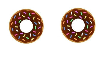 Donut Cabochon Stud Earrings LSE458