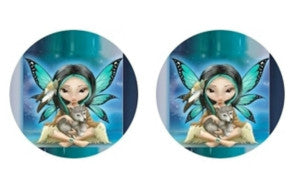 Goth Fairy Cabochon Stud Earrings LSE519