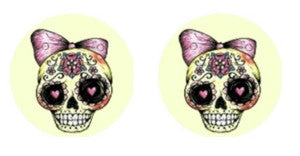 Skulls Sugar Cabochon Stud Earrings LSE526