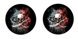 Skulls Cabochon Stud Earrings LSE528