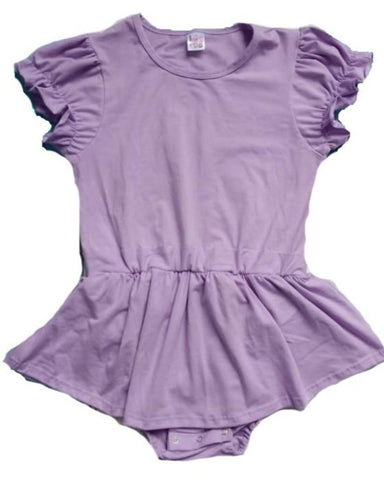 DISCONTINUED Pretty in Lavender Romper Bodysuit Dress Clearance