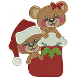 Lil Bears Christmas Holiday 1pc Romper Outfit