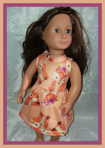 Lil' Fox Doll Matching Outfit Dress MDO101