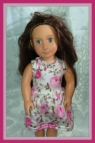 Floral Doll Matching Outfit Dress MDO104