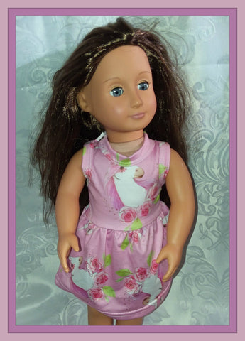 Floral Unicorn Doll Matching Outfit Dress MDO105