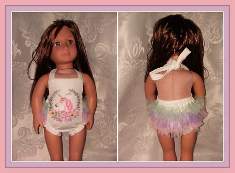 Magical Unicorn Ruffle Doll Matching Outfit Dress MDO107