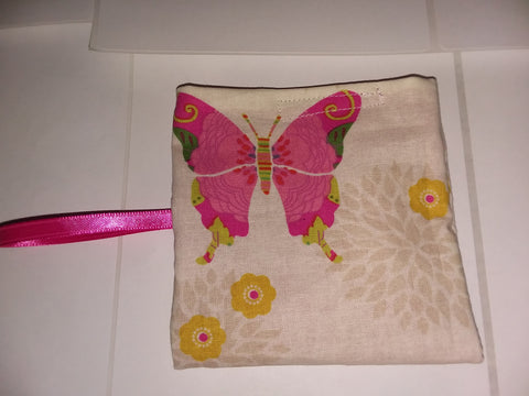 Butterfly Handmade Pacifier carrying case/bag MPB235