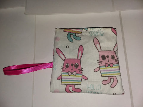 Bunnys Handmade Pacifier carrying case/bag MPB236