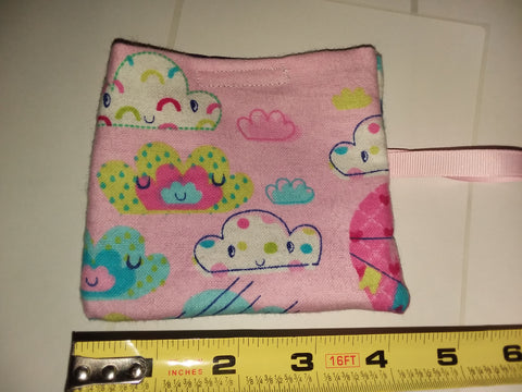 Clouds HAND MADE PACIFIER CARRYING CASE/BAG MPB246