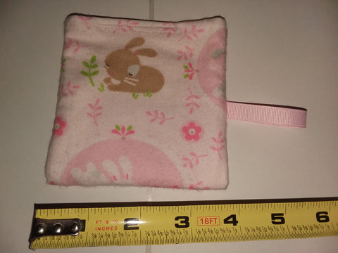 Bunny HAND MADE PACIFIER CARRYING CASE/BAG MPB254