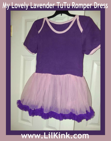 My Lovely Lavender Adult TuTu Romper Dress