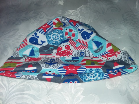 Nautical sailboat theme Matching Adult Newborn Baby Hat Cap NB105