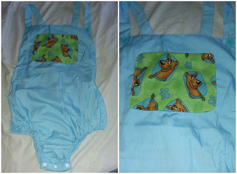 Blue Dog Puppy Adult Romper in size Medium OAS177