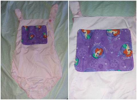 Pink Mermaid Princess Adult Romper in size Small OAS178