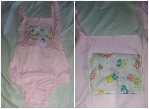 Pink Bears Adult Romper in size Medium OAS179