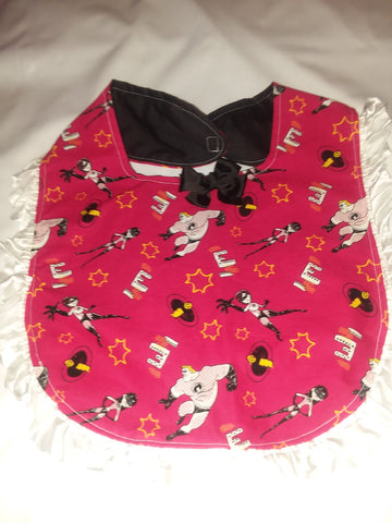 PRINCESS LACE BIB Super Hero Family PB150