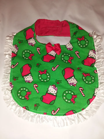 PRINCESS LACE BIB Holiday Christmas Kitty PB187