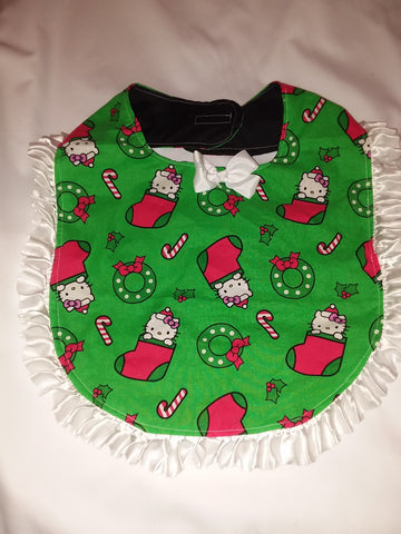 PRINCESS LACE BIB Holiday Christmas Kitty PB188