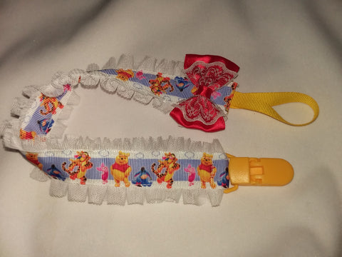Bear PB DELUXE CUSTOM PACIFIERS CLIPS PLPC309