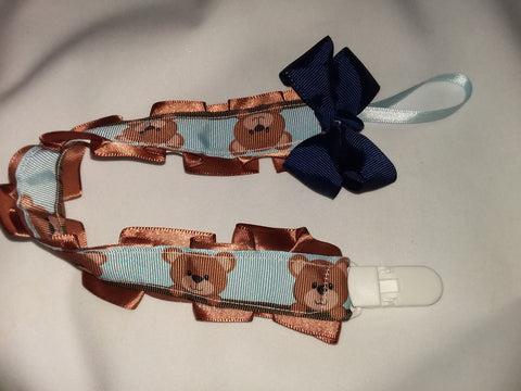 Bear DELUXE CUSTOM PACIFIERS CLIPS PLPC312