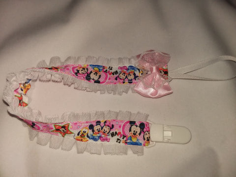 Mouse Cartoon DELUXE CUSTOM PACIFIERS CLIPS PLPC323