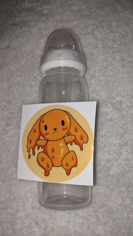 HUNNY BUNNY 9OZ BABY BOTTLE WITH ADULT TEAT DESIGNED BY @CYAN.RED