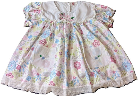 Pocket Full Of Posies Embroidered Baby Doll Dress