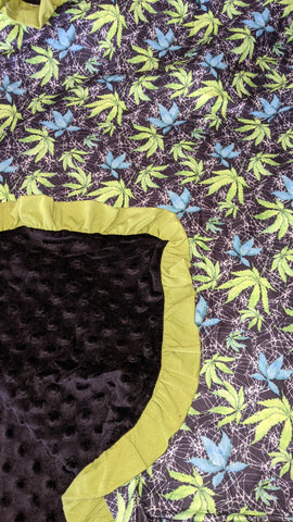 Shades of Cannabis Snuggle Blankie Very Soft
