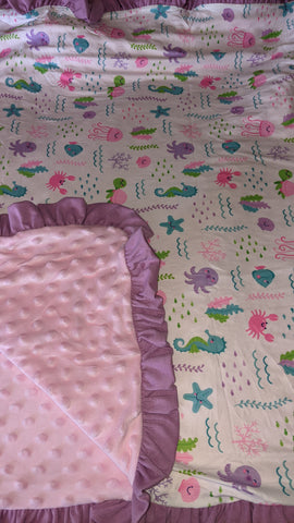 Under The Sea Snuggle Blankie Very Soft