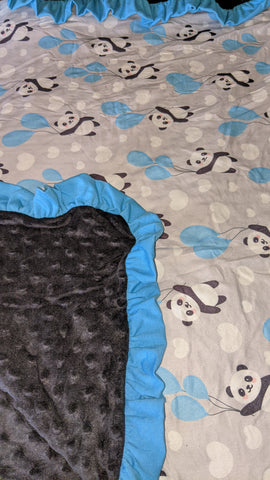 Up in The Air Panda Snuggle Blankie Very Soft