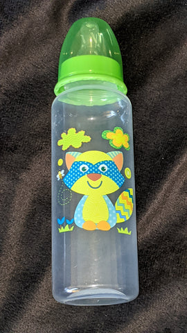 Raccoon 9oz Baby Bottle with ADULT Teat