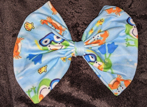 Scuba Frog Matching Hair Bows