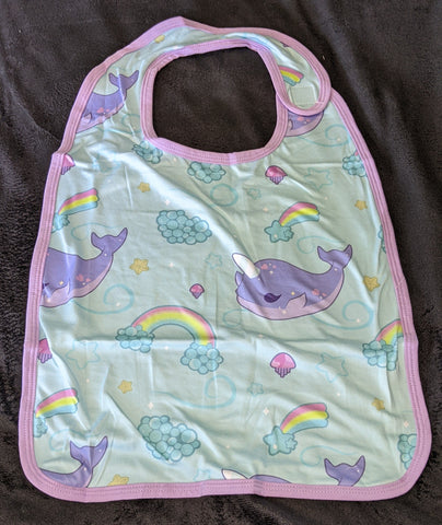 Narwals & Rainbows Matching Bib DESIGNED BY @BEEZANDBATWINGZ