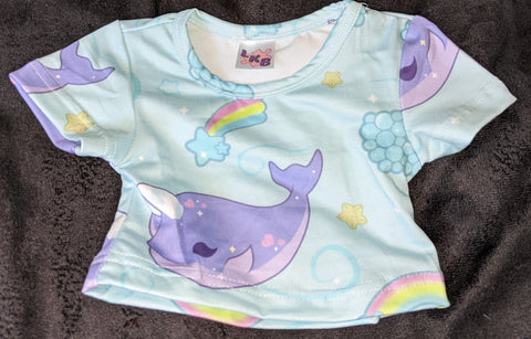 Narwals & Rainbows Stuffy Matching Shirt DESIGNED BY @BEEZANDBATWINGZ