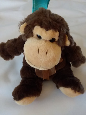 Monkey 1Pcs Mini Stuffy Soother Pacifier Clip SPC192 L binkie buddies