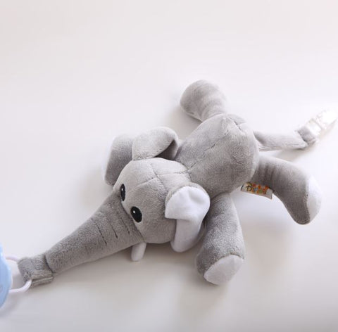 Elephant 1Pcs Mini Stuffy Soother Pacifier Clip SPC231 M binkie buddies