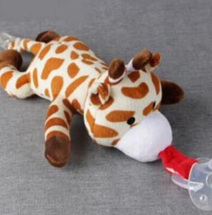 Giraffe 1Pcs Mini Stuffy Soother Pacifier Clip SPC234 M binkie buddies