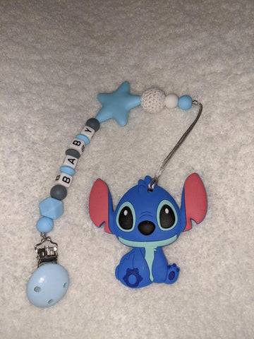 SILICONE TEETHER CHEWING TOY PACIFIER CLIP Alien TC1062