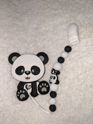 SILICONE TEETHER CHEWING TOY PACIFIER CLIP BEAR TC1077