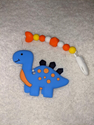 SILICONE TEETHER CHEWING TOY PACIFIER CLIP Dinosaur TC1100