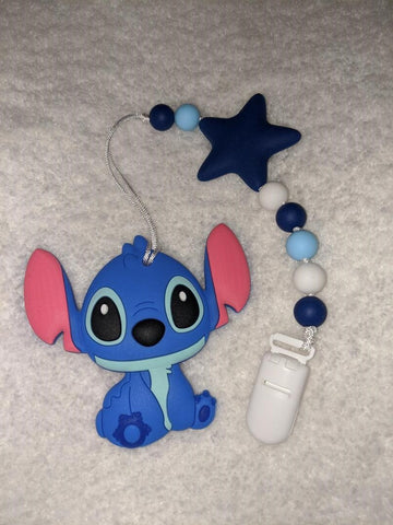 SILICONE TEETHER CHEWING TOY PACIFIER CLIP Alien TC1127