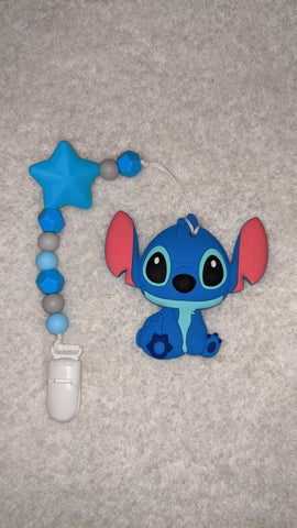 SILICONE TEETHER CHEWING TOY PACIFIER CLIP Alien TC1512