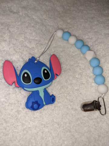SILICONE TEETHER CHEWING TOY PACIFIER CLIP ALIEN TC890