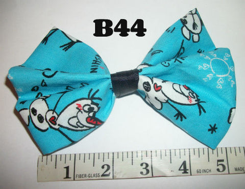 Snowman Boutique Fabric Hair  Bow HB44