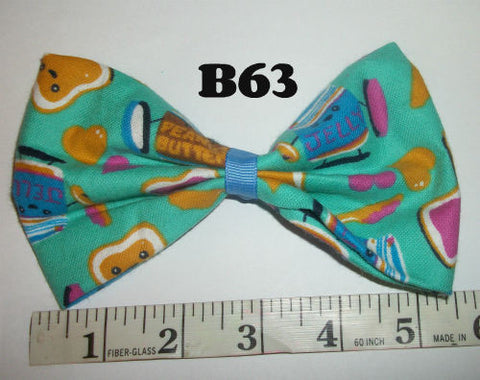 Peanut Butter & Jelly Boutique Fabric Hair  Bow HB63