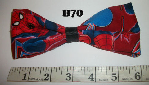 Super Hero Spiderman Boutique Fabric Hair  Bow HB70