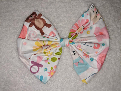 LIL BABY MATCHING Boutique Fabric Hair Bow